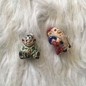Set of Two Dwarf Necklace Pendants